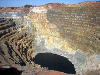 The Crucitas open-pit mine