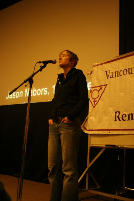 2010 Vancouver Transgender Day of Remembrance - SFU Harbour Center - Lisa Baird recites her poetry - http://www.luckygoat.org/bio/