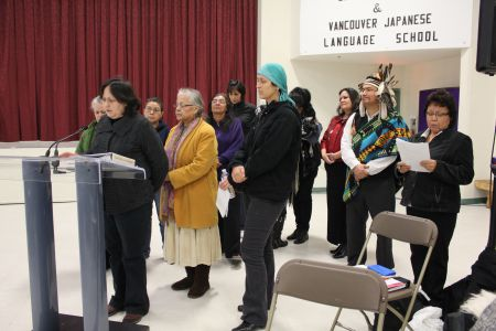 Women in Vancouver's Downtown Eastside speak out at inquiry public forum. Photo: Tami Starlight