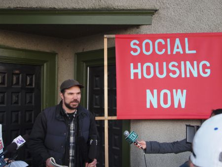 Ivan Drury with Social Housing Alliance