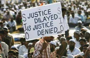 Indian Muslims protest denial of Justice for Gujrat genocide