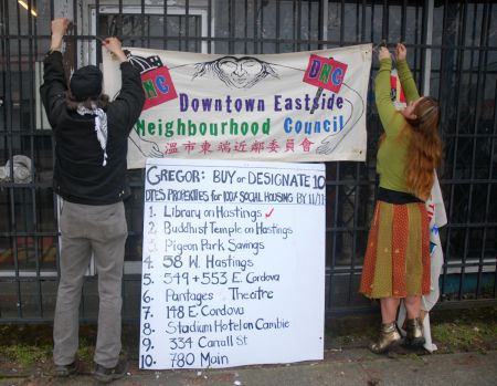 The 10 sites targeted for social housing by the DNC