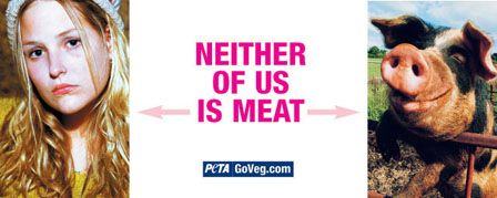 A PETA billboard ad which likens pig farming to the murder of survival sex workers