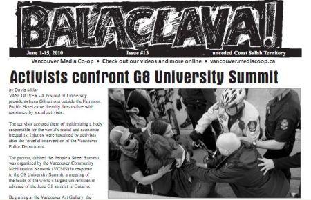 Balaclava! VMC Olympic Broadsheet, issue 13