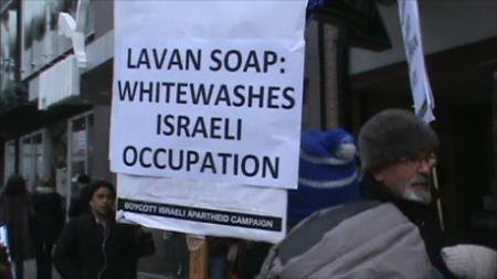 Vancouver Picketers Boycott Israeli Goods at Lavan Soap