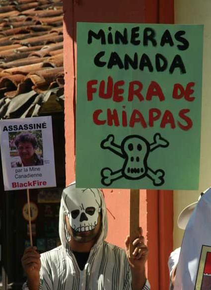 Protest in Chiapas. Picture by Carlos Dardon of REMA.