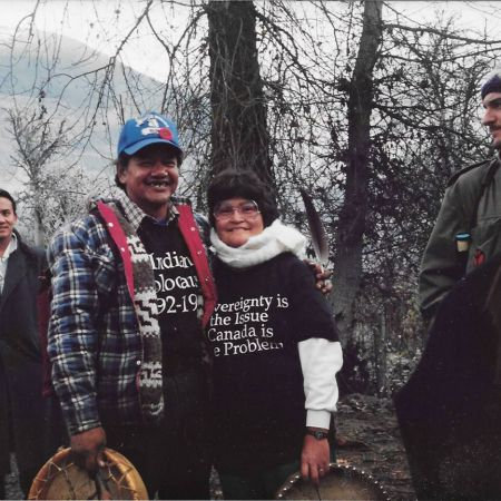 Tsemhuqw and Lahalus in Lil'wat, 1990.