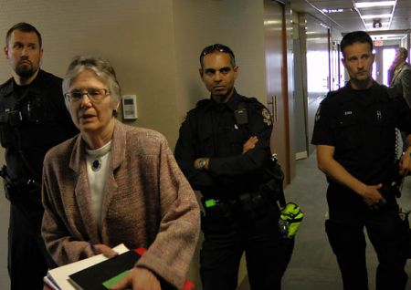 Cops Watch Penny Ballem's Back