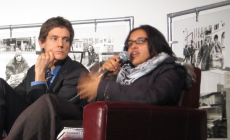 David Eby and Harsha Walia speak out on human rights and media. Photo: Sandra Cuffe