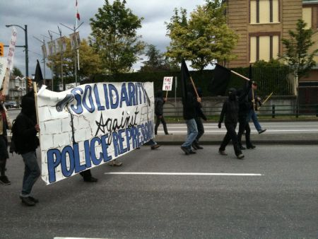 Solidarity Against Police Repression (from @vancouver_decay twitpic)