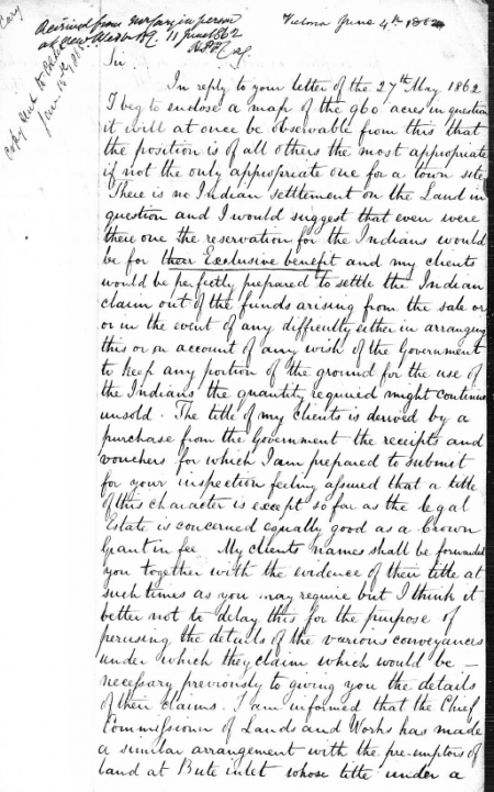 George Cary's letter, June 4 1862, page 1.