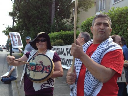Protest greets JNF fundraiser for Israeli apartheid in Vancouver