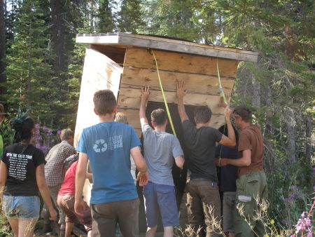 Erecting Structures During August 2012 Action Camp