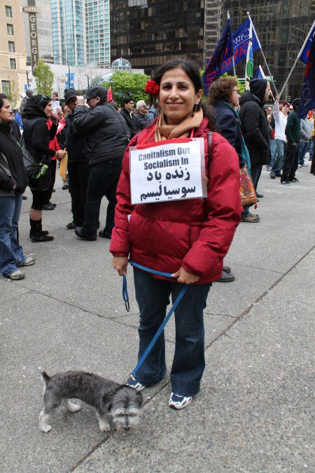 Tammy Sadeghi, member of the Worker-Communist Party of Iran