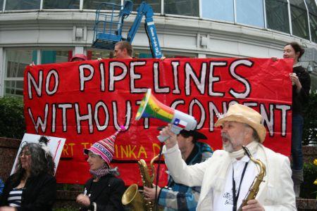 A carnival band energizes the Yinka Dene Alliance support rally. March 22, 2011. Photo: Sandra Cuffe