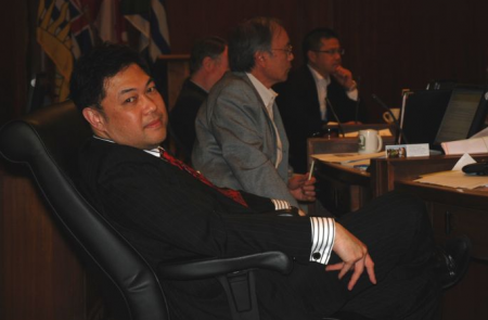 Kerry Jang at One of His Part-Time Jobs (photo: Murray Bush)