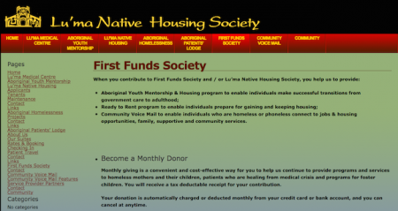 Lu'ma Native Housing Society / First Funds Society