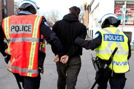 Arrest, March 15 Montreal // Gord Hill