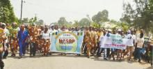 Marching on Ogoni Day, January 24, for a stop to drilling and pipelines in Ogoni lands.