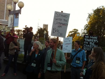 UBCM delegates standing with community