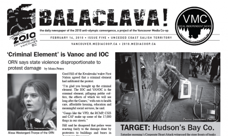 Balaclava! VMC Olympic Broadsheet, issue 5