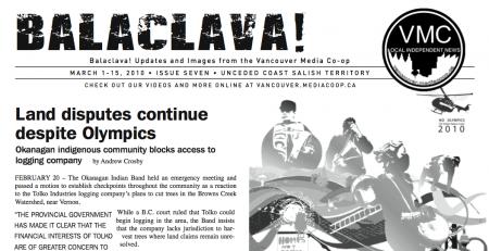 Balaclava! VMC Broadsheet, issue 7
