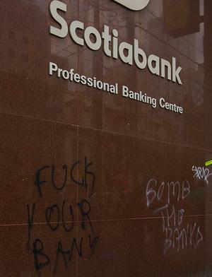 Graffitti in downtown Toronto, June 26, 2010.