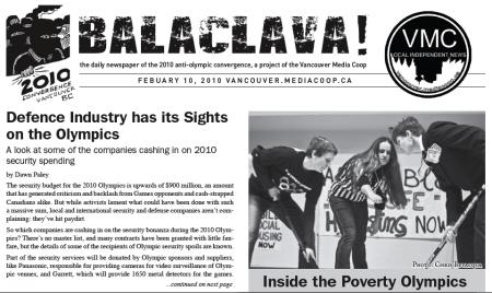 Balaclava! VMC Olympic Broadsheet