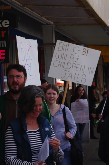 Protest against Bill C-31