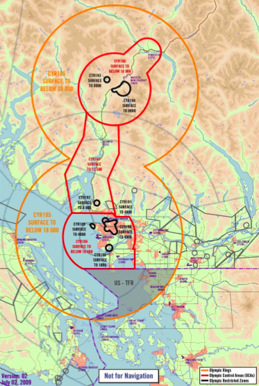 2010 Olympic Airspace Map by NavCan