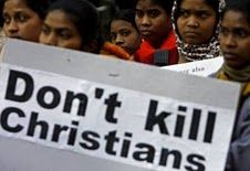 Protesting the murders of Christians in Orissa.