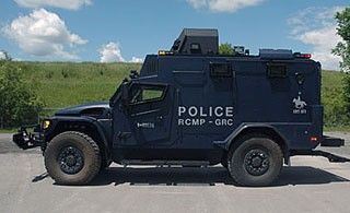 One of the RCMP Tactical Armoured Vehicles deployed across Canada. Photo: RCMP.