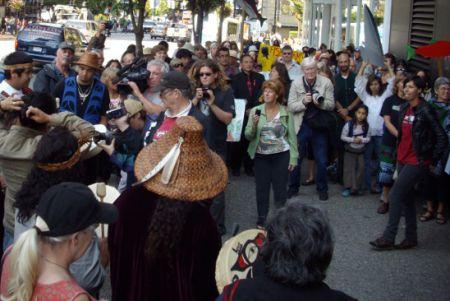 Rally at 701 W. Georgia
