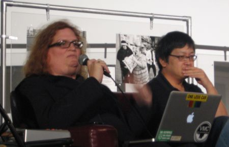 Tami Starlight and Henry Yu speak out about human rights and media. Photo: Sandra Cuffe