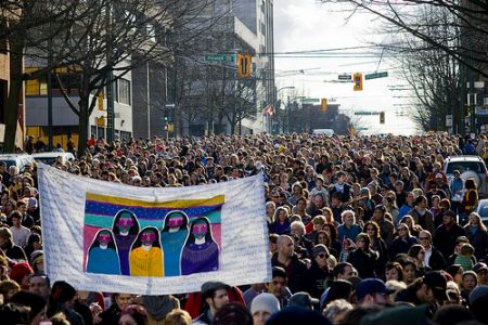5,000 marched in support in Vancouver. // Insurgentphoto