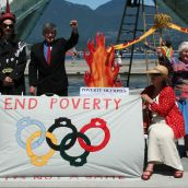 Poverty Olympics Torch Relay (onto London 2012)