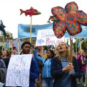 Thousands march against Kinder Morgan