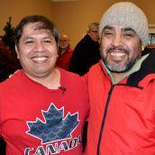 With activist Oswaldo Godoy.