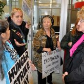 DTES residents question Vancity v-p Linda Morris