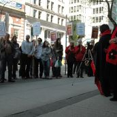 Indigenous people in solidarity on Coast Salish Land