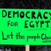 Nelson Rallies to Support Democracy in Egypt