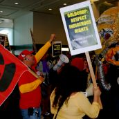 Protest at Goldcorp's Annual General Meeting