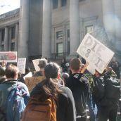 The demo began at the VAG