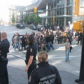 Police suddenly decided to arrest two protesters