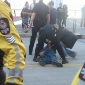 Police decided to take down four more protesters in a show of intimidation
