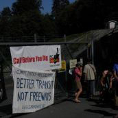 Protest at Kinder Morgan Trans Mountain Pipline
