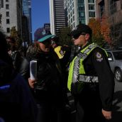 Cops were fine with occupying the art gallery area, but not so the road