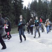 Demonstrators called the bluff