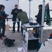 No to Gaddafi in the Snow