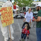 Facts Bear Witness Outside Fossil Fool Fest